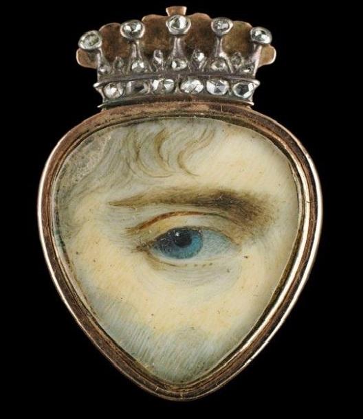 "Monile ""Lover's eye"" di epoca Vittoriana"