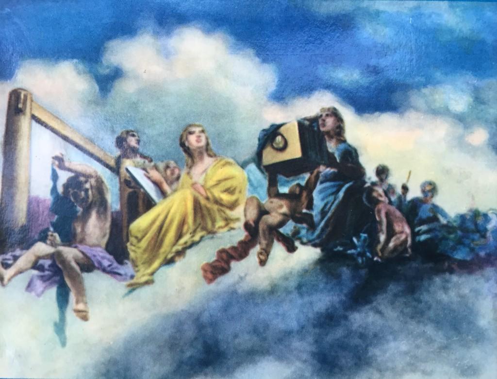"""Domenico Torti, """"L'assunzione della giovane arte Fotografica nel cielo delle arti belle"""", 1882 [particolare]"""