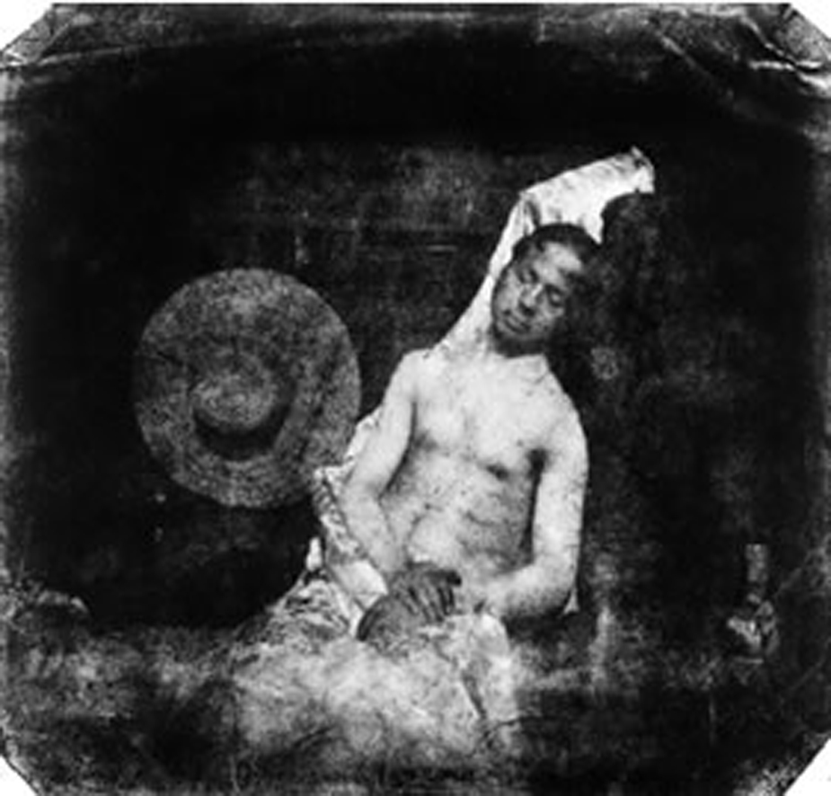 """Hippolyte Bayard, """"Autoportrait en noyé"""", 1840"""