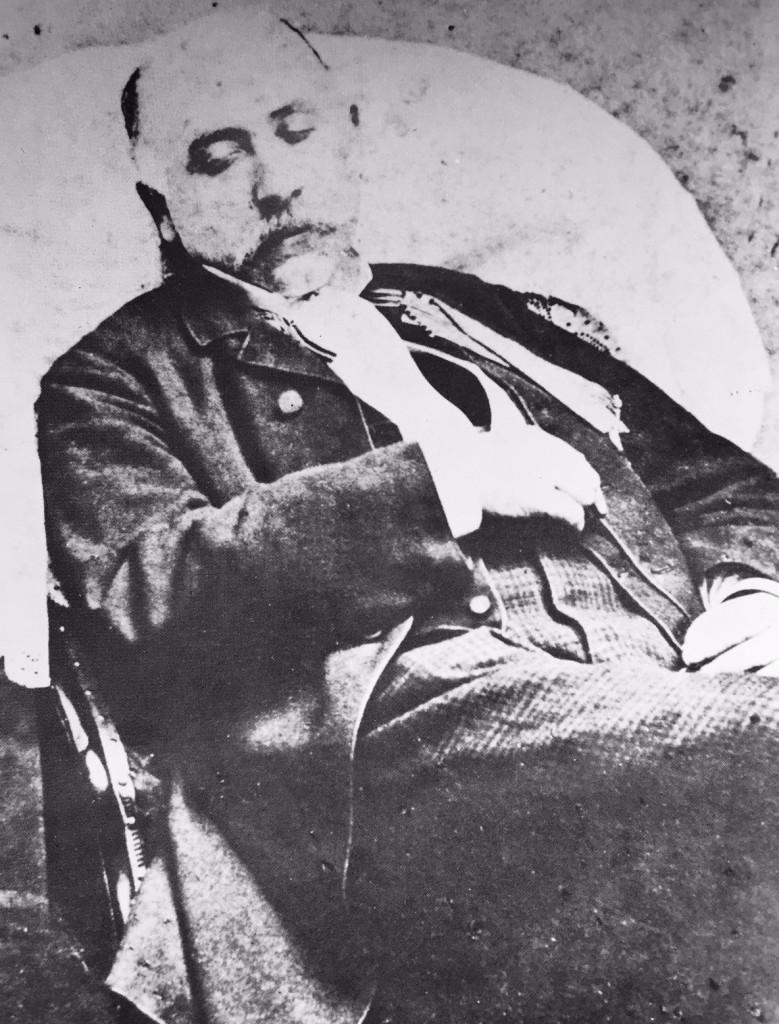"""Luigi Capuana, """"Autoritratto da finto morto"""","""