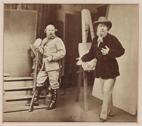 "Oscar Gustave Rejlander ""L'artista Rejlander presenta il volontario Rejlander"", 1871"