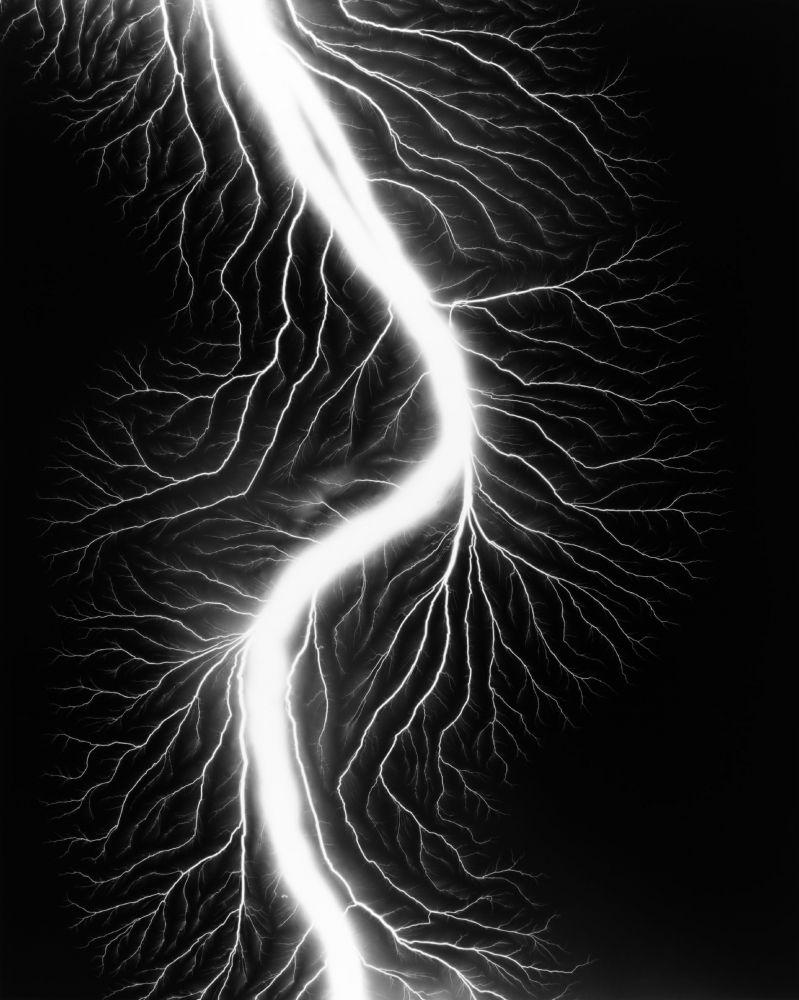 "© Hiroshi Sugimoto, ""Lightning Fields"", 2008"