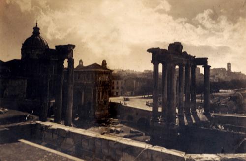 """Gioacchino Altobelli, """"Veduta notturna dei Fori Imperiali di Roma"""", 1865 ca."""