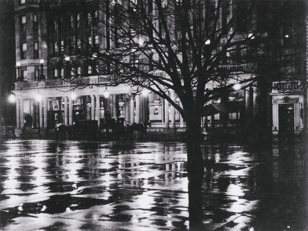 "Alfred Stieglitz, ""Reflection Night"", 1896"