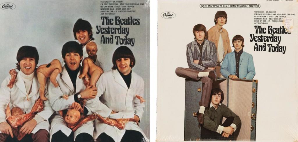 """A sx la copertina censurata di """"Yesterday And Today"""", a dx la versione reimmessa sul mercato, 1966"""