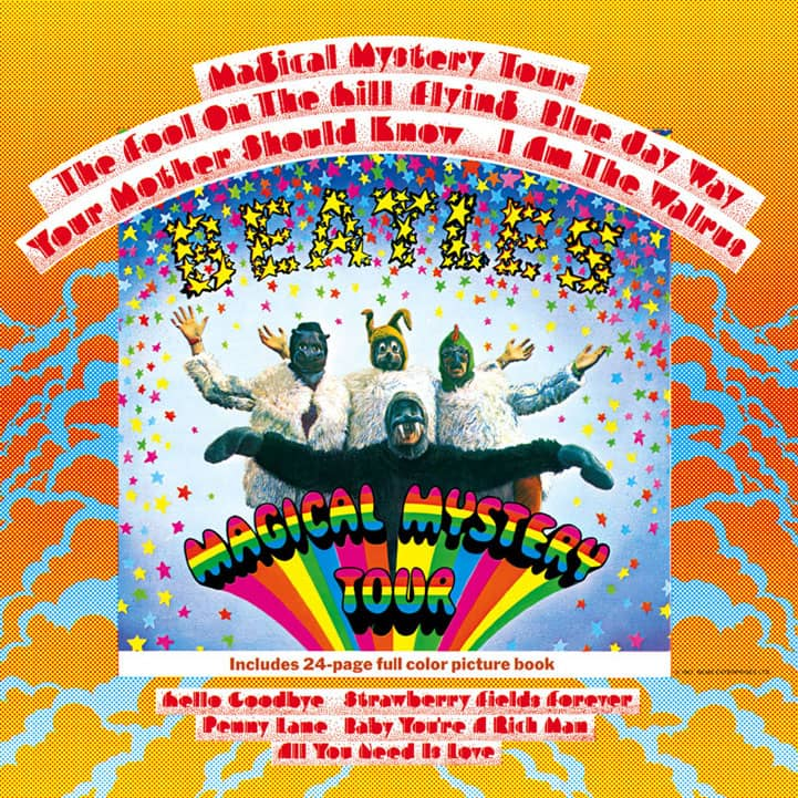 "La copertina di ""Magical Mystery Tour"", 1967"